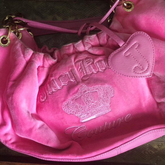 Juicy Couture Other - Juicy Couture Hot Pink Velour Bag